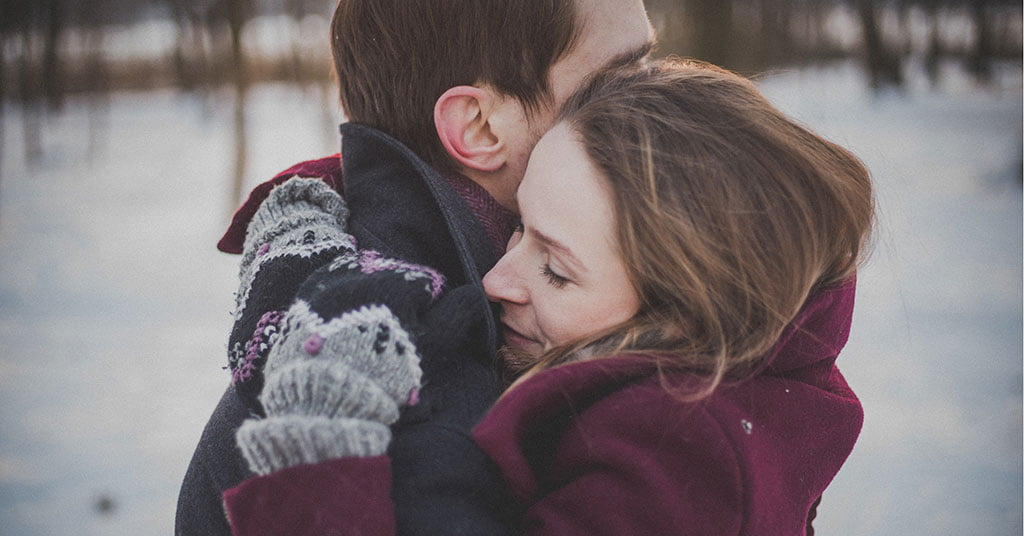 A girl and boy hugging each other- Healthy Relationship
