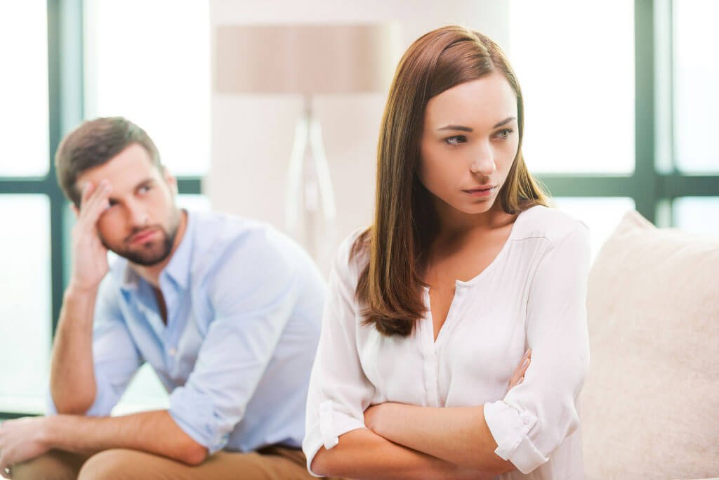 man and women in a toxic relationship