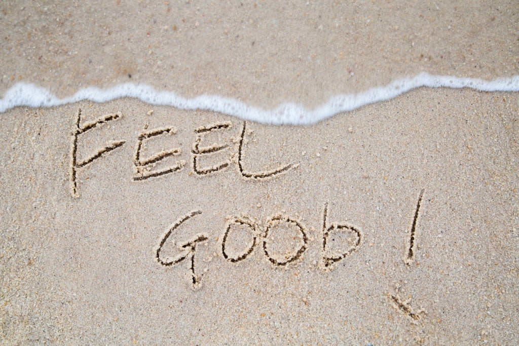 feel good written on beach sand, Question to ask your girlfriend