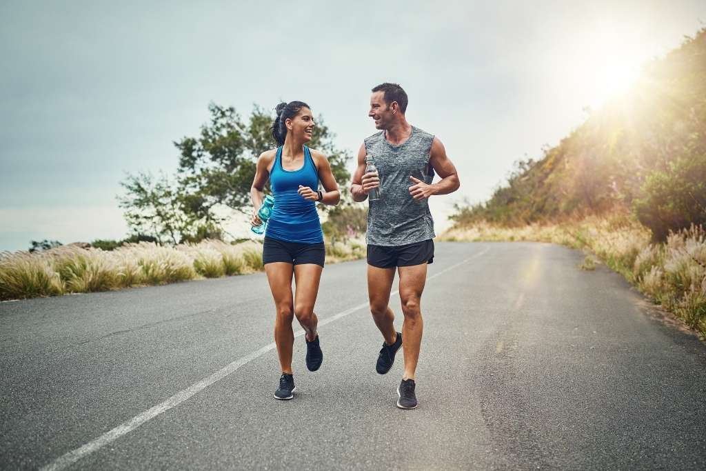 Photo of a couple training outdoor
